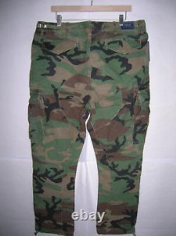 Polo Ralph Lauren military camo cargo pants vintage army BDU fatigues, MSRP $138