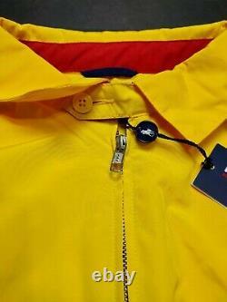 Polo Sport Ralph Lauren Men's Windbreaker Jacket Yellow Navy Blue Vintage 90s
