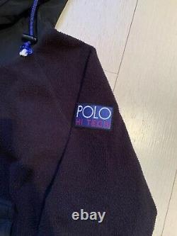 Polo Sport Ralph Lauren Vintage Hi Tech Tech Fleece Hoodie Stadium Snow Beach