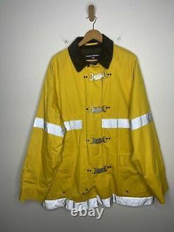 Polo Sport Ralph Lauren XL Yellow Fireman Jacket Coat RRL VTG XXL Rugby Sailing