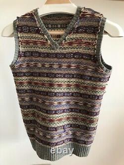 Polo by Ralph Lauren (Vintage) Fairisle Sleeveless Knit Vest Size M (34 p2p)
