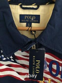 RALPH LAUREN POLO X VINTAGE RLPC Champion Games 1938 USA Zip-Up Jacket Size XL