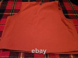 RALPH LAUREN Vintage Polo Vest Orange Zip Fly Fishing Hunting Mens Sz XL