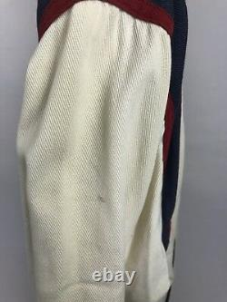RARE HTF VTG 90s Polo Ralph Lauren P-Wing Ivory Varsity Jacket Size Medium