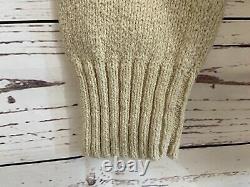 RARE Vintage 90s Ralph Lauren Golf Polo Bear Intarsia Knit Sweater Large L EXC