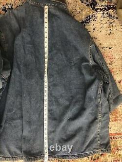 RRL Ralph Lauren XL Jean Jacket VTG Chore Coat Denim XXL Polo Trucker Distressed