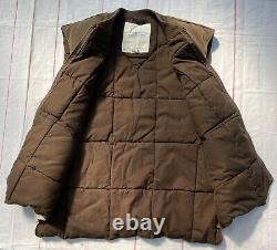 Ralph Lauren Denim Supply Suede Animal Print Puff VTG RRL Country Polo Vest XL