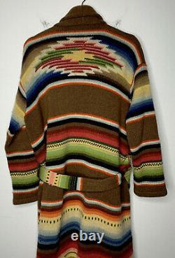 Ralph Lauren Indian RRL Aztec Southwestern Sweater Jacket Polo Robe Serape VTG