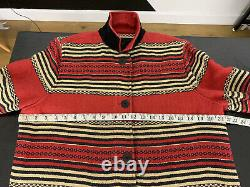 Ralph Lauren Jacket VTG Hunting Chore Polo Country Indian Serape RRL Aztec Red