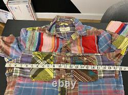 Ralph Lauren Medium Slim Shirt Aztec Indian Hunting RRL Patchwork Polo Small VTG