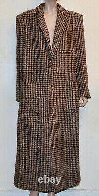 Ralph Lauren POLO vintage houndstooth plaid long wool coat 6