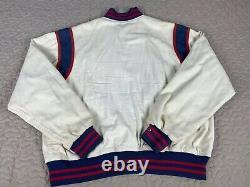 Ralph Lauren Polo 1992 OG Vintage P Wing Varsity Bomber Jacket Mens Sz L