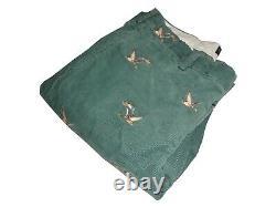 Ralph Lauren Polo Mallard Corduroy Pants 36 x 32 Embroidered Duck Green Vintage