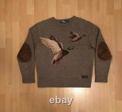 Ralph Lauren Polo Mallard Duck Sweater Stadium Sportsman Vintage 1993