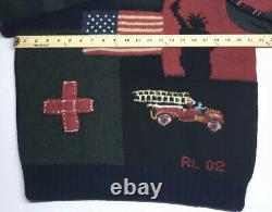 Ralph Lauren Polo Sweater Tribute 911 Collection VTG Men XL. Never Worn, No Tags