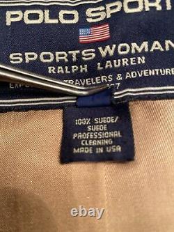 Ralph Lauren Vintage Polo Sport Womens Suede Jacket Size Medium. Excellent Cond