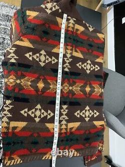 Ralph Lauren XL VTG Indian RRL Aztec Southwestern Sweater Western Polo Country