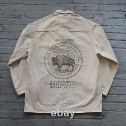 Rare Polo Country Ralph Lauren Chore Jacket Little Wolf Milling Utah Bison Vtg