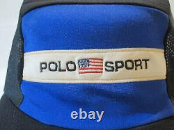 Rare RLX Ralph Lauren 5 Panel Cycling POLO SPORT Hat Cap Stadium Long Bill vtg