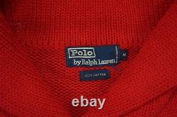Rare VTG POLO RALPH LAUREN Cross Flags 1967 1987 20th Spell Out Sweater 80s M