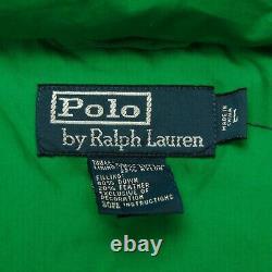 Rare VTG POLO RALPH LAUREN Down Puffer Parka Jacket 90s Green NWT MSRP $325 SZ L