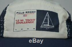 Rare VTG POLO SPORT Ralph Lauren 12 M. Yacht Challenge Spell Out Hat Cap 90s NWT