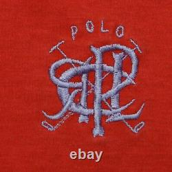 Rare Vintage POLO RALPH LAUREN Scribble Spell Out Striped Hoodie T Shirt 90s XL