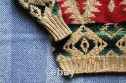 Rare Vintage Polo Ralph Lauren Southwestern Style Knit Jumper Size L RRL Xmas
