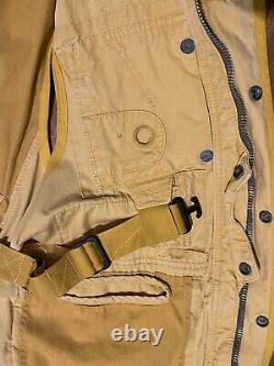 Rare Vintage Polo Ralph Lauren Vest Sz M Fits L XL 90s Naval Sailor Yellow RRL