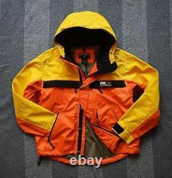 Rare Vintage Polo Sport Ralph Lauren RLX Technical Waterproof Shell Jacket Sz L