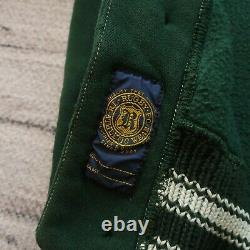 Rugby by Ralph Lauren Shawl Collar Sweater Size S Leather Polo RL Wing Vtg