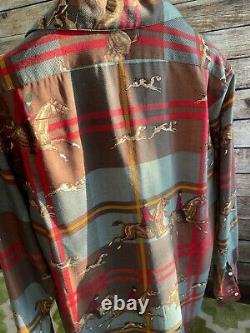 ULTRA RARE Vintage Polo Ralph Lauren Equestrian Wool Shirt Size L Made in USA