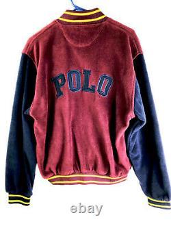 VTG 1990's Polo Sport Ralph Lauren Cookie P67 STADIUM Fleece Jacket SPELL Out XL
