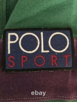 VTG Polo Ralph Lauren Green Hi Tech Rugby Rare Stadium 1992 Sportsman Polo Sport