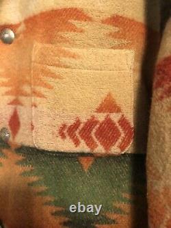 VTG Polo Ralph Lauren Navajo Southwestern Aztec Blanket Jacket Coat Country RRL