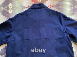 VTG Polo Ralph Lauren Navy Style Jacket Size L Fireman Heavyweight Clasp PRLC