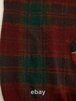 VTG Polo Ralph Lauren Pheasant Quail Hunting Wool Sweater Sz XL Sportsman Adult