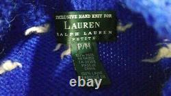 VTG Ralph Lauren POLO SWEATER ski flag fair isles snowflake M