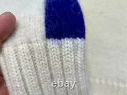VTG Ralph Lauren knit Sweater Cream Cookie RLYC Polo Sport jacket anorak LARGE
