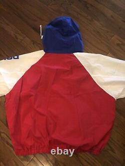 VTG Rare Polo Sport Ralph Lauren Spellout Jacket Windbreaker Mens XL 90s Blue