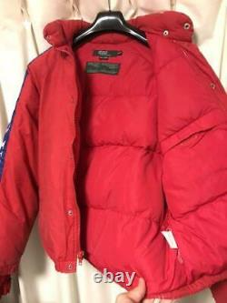 Vintage 1990's POLO RALPH LAUREN SKI Down Jacket Red Bule M Size Rare
