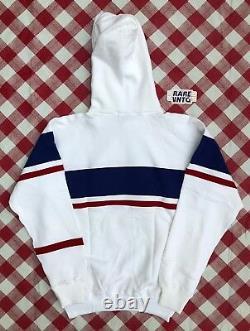 Vintage 1992 Polo Ralph Lauren Sailing Team Hoodie Sweatshirt DS SZ M CP-RL93