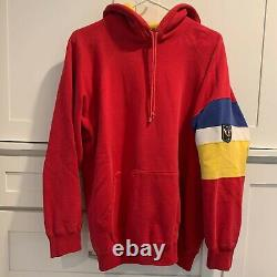 Vintage 80s Polo Ralph Lauren Uni Hoodie Medium Red Pwing Snow Beach Cookie