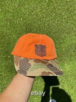 Vintage 90s POLO Ralph Lauren Camo Hunting Orange Hat Baseball Cap Hat Rare