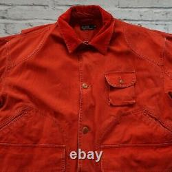 Vintage 90s Polo Ralph Lauren Canvas Field Hunting Jacket Made in USA Rare