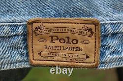 Vintage 90s Polo Ralph Lauren Denim Jean Teddy Bear Jacket XL