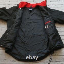 Vintage 90s Polo Ralph Lauren Hi Tech Ski Jacket Size M Black Snow Beach