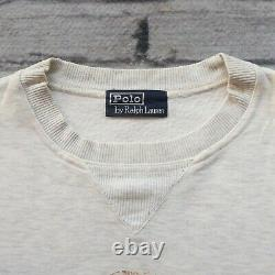 Vintage 90s Polo Ralph Lauren Jeans Bear Crew Sweatshirt Size L M