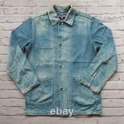 Vintage 90s Polo Sport Ralph Lauren Denim Chore Jacket Size M Country Field