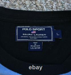 Vintage 90s Polo Sport Ralph Lauren Racing Motocross Shirt Bear Ski 1992 Beach